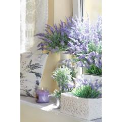 Kwiat lawenda doniczka 22 cm - średnica 10 cm, wysokość 22 cm - fioletowy/zielony 1