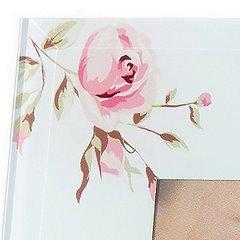 Ramka dekoracyjna mama kwiaty ze szkła 23 x 18 cm - 23 X 18 cm - kremowy/różowy 3
