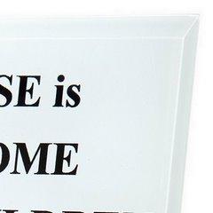 Ramka dekoracyjna z angielską sentencją 12 x 18 cm szkło - 12 X 18 cm - biały/mix kolorów 3
