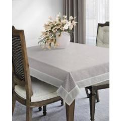 Obrus 100% bawełna stalowy 150 x 220 cm - 150 X 220 cm - stalowy 2