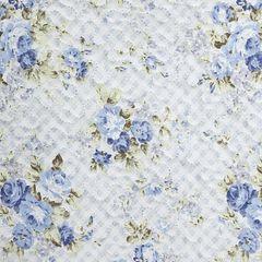 Narzuta dwustronna motyw kwiatowy termozgrzewana 220x240cm - 220 X 240 cm - biały/niebieski 8