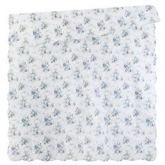Narzuta dwustronna motyw kwiatowy termozgrzewana 220x240cm - 220x240 - niebieski 3