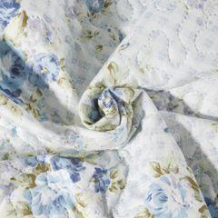 Narzuta dwustronna motyw kwiatowy termozgrzewana 220x240cm - 220 X 240 cm - biały/niebieski 6