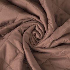 Narzuta pikowana w kwadraty czekoladowy brąz+poduszka 170x210cm - 170 X 210 cm, 40 X 40 cm - brązowy 7