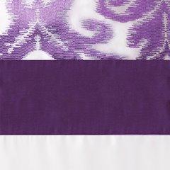 Narzuta + poszewka ornament fiolet brąz 170 x 210 cm, 1 - 170 X 210 cm, 1 szt. 50 X 70 cm - kremowy/fioletowy 3