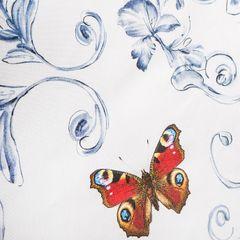 Bieżnik marika w motyle 40x140 cm - 40 X 140 cm - kremowy 2