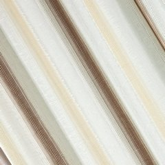 Zasłona w delikatne pionowe pasy brązowa przelotki 140x250cm - 140 X 250 cm - brązowy/ecru 1