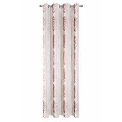 Zasłona z cieniowanymi ornamentami bordowa przelotki 140x250cm - 140 X 250 cm - ecru/bordowy 5