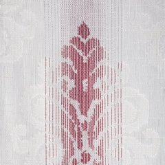Zasłona z cieniowanymi ornamentami bordowa przelotki 140x250cm - 140 X 250 cm - ecru/bordowy 4