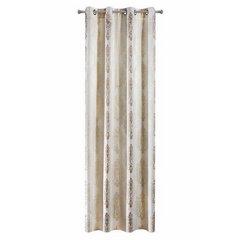 Zasłona z cieniowanymi ornamentami brązowa przelotki 140x250cm - 140 X 250 cm - brązowy/ecru 5