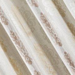 Zasłona z cieniowanymi ornamentami brązowa przelotki 140x250cm - 140x250 - kremowy / brązowy 1