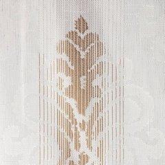Zasłona z cieniowanymi ornamentami brązowa przelotki 140x250cm - 140 X 250 cm - brązowy/ecru 3