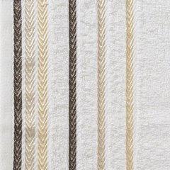 Ręcznik z bawełny z kolorowymi paskami w jodełkę 70x140cm kremowy - 70 X 140 cm - kremowy 3