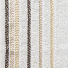 Ręcznik z bawełny z kolorowymi paskami w jodełkę 70x140cm kremowy - 70 X 140 cm - kremowy 4