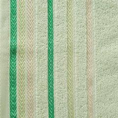 Ręcznik z bawełny z kolorowymi paskami w jodełkę 50x90cm jasnozielony - 50 X 90 cm - zielony 10