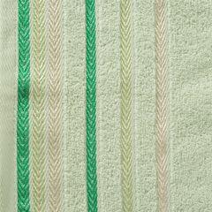 Ręcznik z bawełny z kolorowymi paskami w jodełkę 50x90cm jasnozielony - 50 X 90 cm - zielony 4