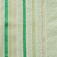 Ręcznik z bawełny z kolorowymi paskami w jodełkę 70x140cm jasnozielony - 70 X 140 cm - zielony 4