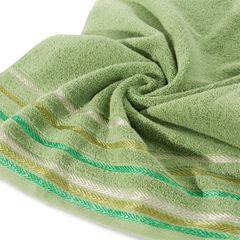 Ręcznik z bawełny z kolorowymi paskami w jodełkę 70x140cm zielony - 70 X 140 cm - zielony 5