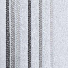 Ręcznik z bawełny z kolorowymi paskami w jodełkę 50x90cm biały - 50 X 90 cm - biały 3