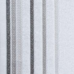 Ręcznik z bawełny z kolorowymi paskami w jodełkę 50x90cm biały - 50 X 90 cm - biały 4
