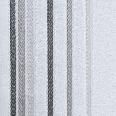 Ręcznik z bawełny z kolorowymi paskami w jodełkę 70x140cm biały - 70 X 140 cm - biały 4