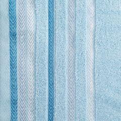 Ręcznik z bawełny z kolorowymi paskami w jodełkę 50x90cm niebieski - 50 X 90 cm - niebieski 9