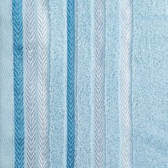 Ręcznik z bawełny z kolorowymi paskami w jodełkę 50x90cm niebieski - 50 X 90 cm - niebieski 4