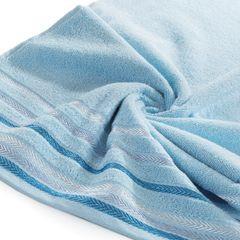 Ręcznik z bawełny z kolorowymi paskami w jodełkę 50x90cm niebieski - 50 X 90 cm - niebieski 5