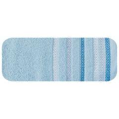 Ręcznik z bawełny z kolorowymi paskami w jodełkę 70x140cm - 70 X 140 cm - niebieski 2