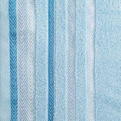 Ręcznik z bawełny z kolorowymi paskami w jodełkę 70x140cm - 70 X 140 cm - niebieski 4