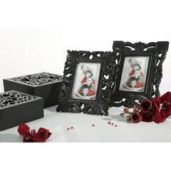 Ażurowa szkatułka na biżuterię czarna 8 cm - 20 X 20 X 8 - czarny 6