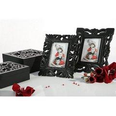 Ażurowa szkatułka na biżuterię czarna 8 cm - 20 X 20 X 8 - czarny 7