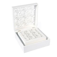 Ażurowa szkatułka na biżuterię czarna 8 cm - 20 X 20 X 8 - czarny 2