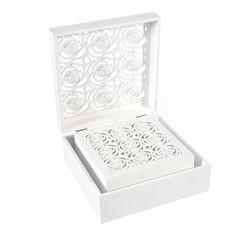 Ażurowa szkatułka na biżuterię czarna 8 cm - 20 X 20 X 8 - czarny 5