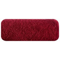 Ręcznik bawełniany gładki bordowy 50x90 cm - 50 X 90 cm - bordowy 2