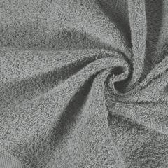 Gładki ręcznik kąpielowy stalowy szary 50x90 cm - 50 X 90 cm - stalowy 10
