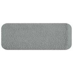 Gładki ręcznik kąpielowy stalowy szary 50x90 cm - 50 X 90 cm - stalowy 2