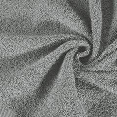Gładki ręcznik kąpielowy stalowy szary 50x90 cm - 50 X 90 cm - stalowy 5