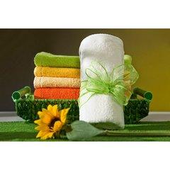 Ręcznik z bawełny gładki lemonowy 50x90cm - 50 X 90 cm - zielony 5