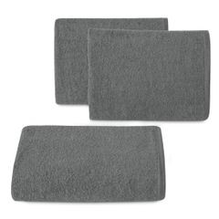 Gładki ręcznik kąpielowy stalowy szary 30x50 cm - 30 X 50 cm - stalowy 1