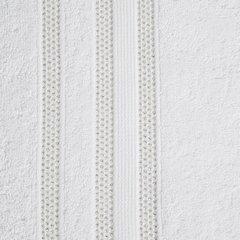 Ręcznik z bawełny zdobiony błyszczącą nitką 50x90cm biały - 50 X 90 cm - biały 8