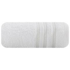 Ręcznik z bawełny zdobiony błyszczącą nitką 50x90cm biały - 50 X 90 cm - biały 2