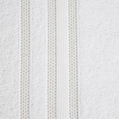 Ręcznik z bawełny zdobiony błyszczącą nitką 50x90cm biały - 50 X 90 cm - biały 4