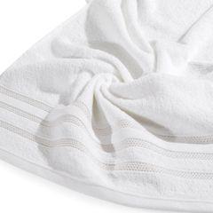 Ręcznik z bawełny zdobiony błyszczącą nitką 70x140cm biały - 70 X 140 cm - biały 9