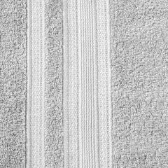 Ręcznik z bawełny zdobiony błyszczącą nitką 50x90cm popielaty - 50 X 90 cm - srebrny 7