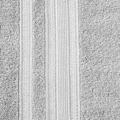 Ręcznik z bawełny zdobiony błyszczącą nitką 50x90cm popielaty - 50 X 90 cm - srebrny 8
