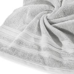 Ręcznik z bawełny zdobiony błyszczącą nitką 50x90cm popielaty - 50 X 90 cm - srebrny 9