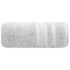 Ręcznik z bawełny zdobiony błyszczącą nitką 50x90cm popielaty - 50 X 90 cm - srebrny 2