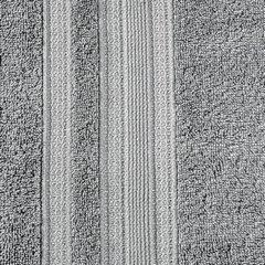 Ręcznik z bawełny zdobiony błyszczącą nitką 70x140cm szary - 70 X 140 cm - stalowy 4