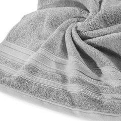 Ręcznik z bawełny zdobiony błyszczącą nitką 70x140cm szary - 70 X 140 cm - stalowy 9